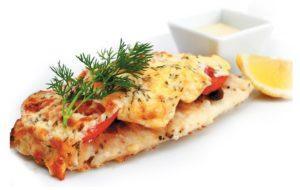 Рыбное филе, запечённое с сыром